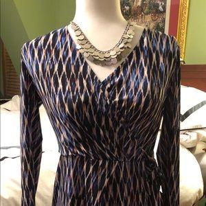 Size 4 London Times Dress-Faux wrap